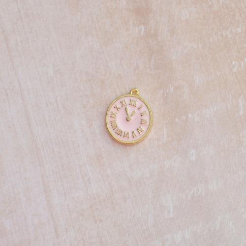 Подвеска П272-К часы розовые
