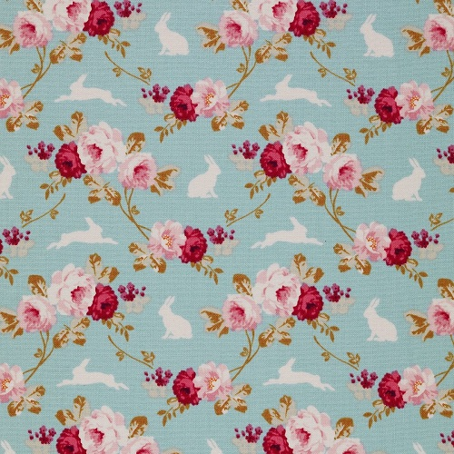 Хлопок Rabbit&Roses Teal