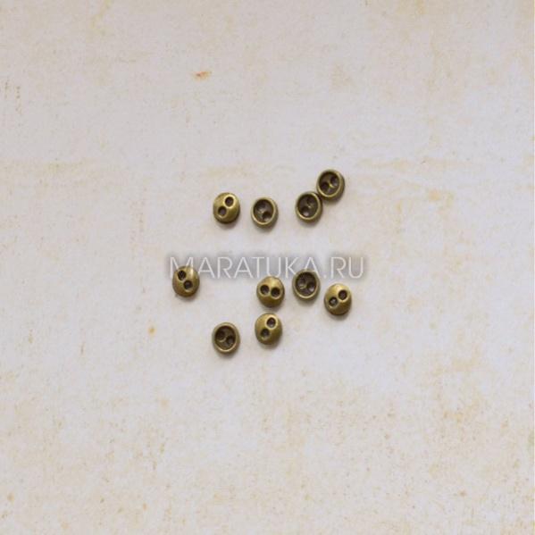 Пуговицы П454-К металл 3 мм