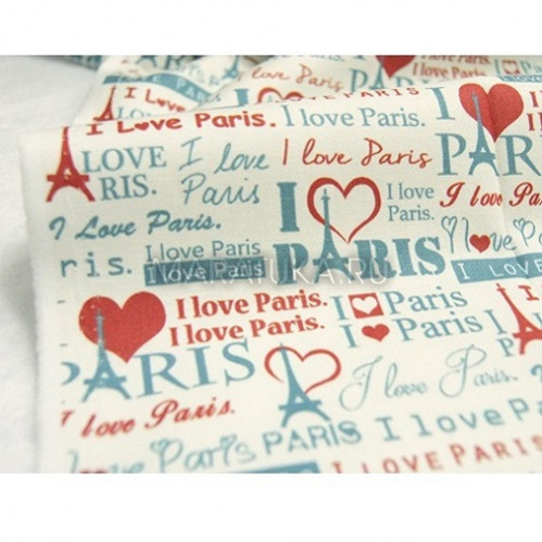 Хлопок К18-63 I love Paris