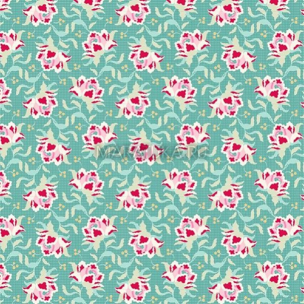 Хлопок Clown Flower Teal