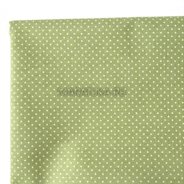 Хлопок К10-56 горошек зеленый