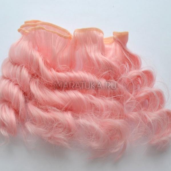 Тресс В185-Т 15 см светло-розовые волны