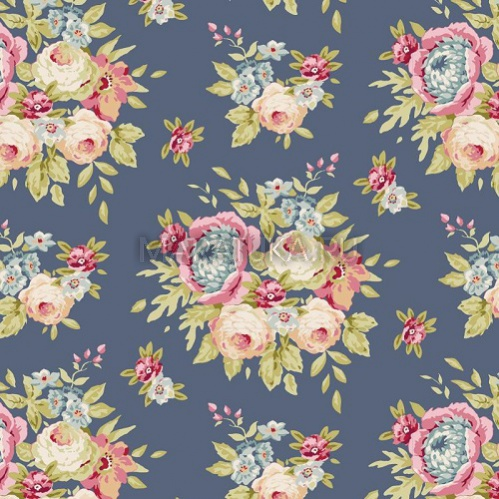 Хлопок Garden Flowers Dark Blue